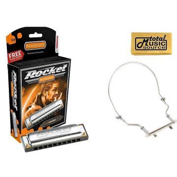 Custom Hohner Rocket Harmonica Boxed Key of G#, Case & Harmonica Holder, M2013BX-G# PACK