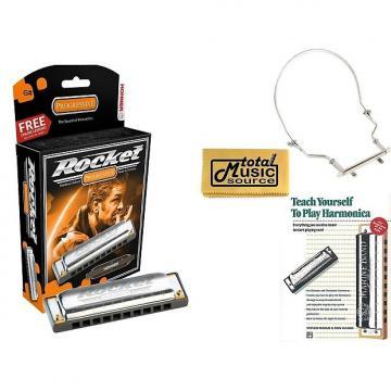 Custom Hohner Rocket Harmonica Boxed Key of G#, Case, Book, & Harmonica Holder, M2013BX-G# COMP