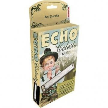 Custom Hohner 455 Echo Celeste Tremolo Tuned Harmonica Key of G, Includes Case, 455BX-G