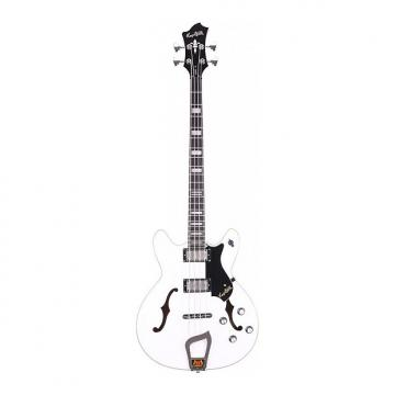 Custom Hagstrom Viking Bass White 4-String Semi-Hollow Bass