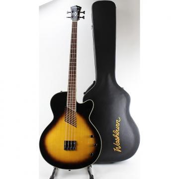 Custom Washburn AB40VSK Cutaway Acoustic Bass Guitar w OHSC in Vintage Sunburst Finish -W Case