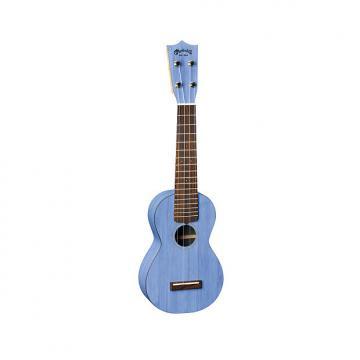 Custom Martin 0X Uke Bamboo Soprano Ukulele with Gigbag - Blue