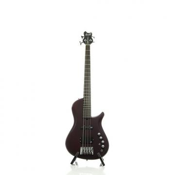 Custom Brubaker Brute Series Single-Cutaway 4-String Bass Guitar Merlot