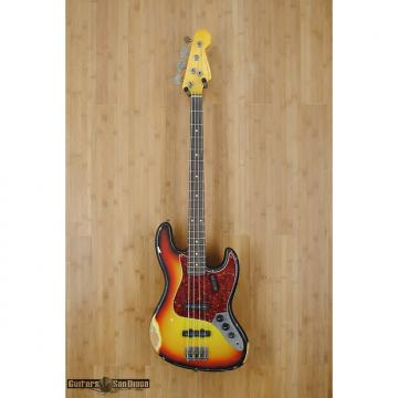 Custom Nash JB-63 4 string bass guitar Three Tone Sunburst