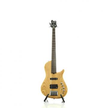 Custom Brubaker Brute Series Single-Cutaway 4-String Bass Guitar Satin Natural