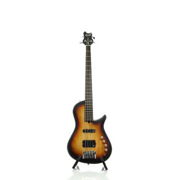 Custom Brubaker Brute Series Single-Cutaway 4-String Bass Guitar Tobacco Burst
