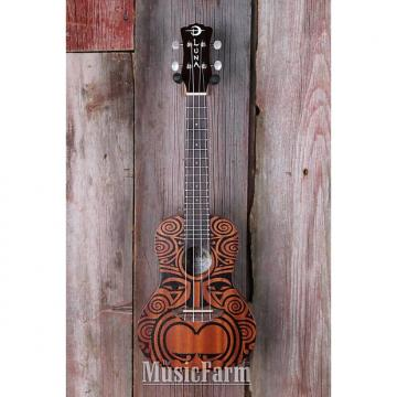 Custom Luna UKE TRIBAL CONCERT Ukulele All Mah Body Uke 15 Inch Scale Satin Natural