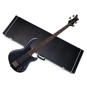Custom DEAN Edge 4 Flame Maple 4-string BASS guitar NEW Trans Black Satin w/ HARD CASE
