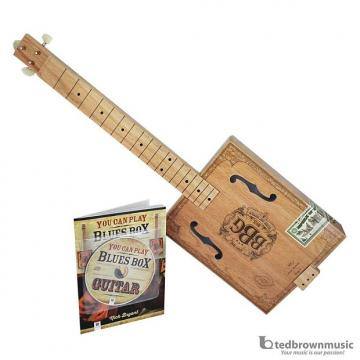 Custom Hinkler  Electric Blues Box Slide Guitar Kit - Includes Cigar Box Guitar, Blues Slide, Book, and CD