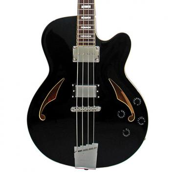 Custom Italia Torino Bass Black 4 String semi-hollow