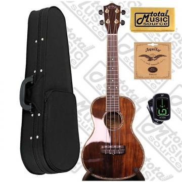 Custom Lanikai NKTU-C Solid Hawaiian Koa Concert TunaUke Ukulele w/Soft Case,Tuner,Strings & PC, NKTU-C SCASE
