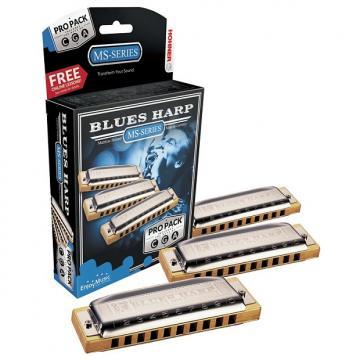 Custom Hohner Blues Harp Pro Pack Harmonica Set