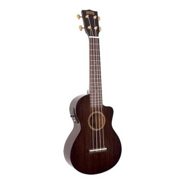 Custom Mahalo Hano Elite Trans Black Electric Concert Ukulele