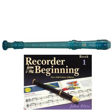 Custom Yamaha  YRS20BB Descant School Recorder Translucent Blue With Book 1