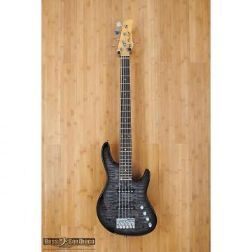 Custom Mike Lull M5 Trans Black 5 string bass guitar
