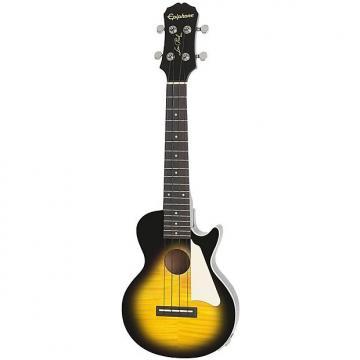 Custom Epiphone Les Paul Electro Acoustic Ukulele Vintage Sunburst