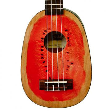 Custom Kala KA-WTML Silk-Screen Watermelon Mahogany Soprano Ukulele