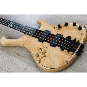 Custom Mayones Custom PI 4 Wojtek Pilichowski Signature Electric Bass w/ Eye Poplar Top Transparent Natural