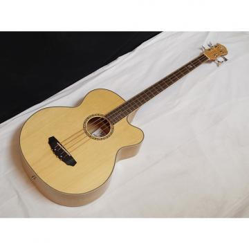 Custom MICHAEL KELLY Firefly 4-string acoustic electric BASS guitar - Natural MKFF4N Natural- blem