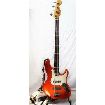 Custom Fender American Deluxe Jazz Bass 2002 Flame Orange With Fender OHSC