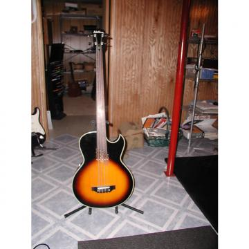 Custom Washburn acoustic frettless bass 1985 2 Tone Sunburst