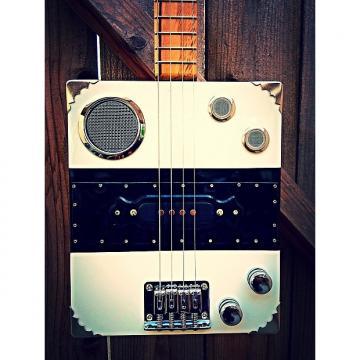 Custom Funguy Mojo Guitars Hot Box Pro Four String Electric Cigar Box Guitar