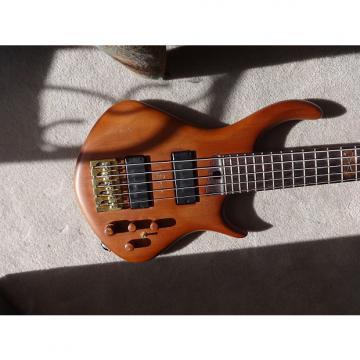 Custom Warrior Dran Michael Custom 5 String Bass Natural Mahogany
