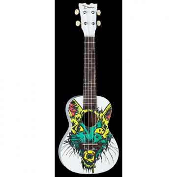 Custom Dean Concert Ukulele Cateye Graphic White NEW