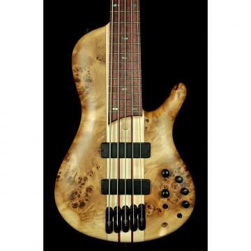 Custom New! Ibanez SRSC805 Cerro Single Cut Neck-Thru 5-String Bass - Natural Flat