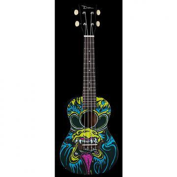 Custom Dean Ukulele Concert Oni Graphic Black NEW UKE
