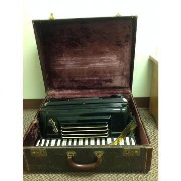 "Custom Pancordion  Crucianelli 19"" Accordion  With Case LMH  1950's 1960's  Black"