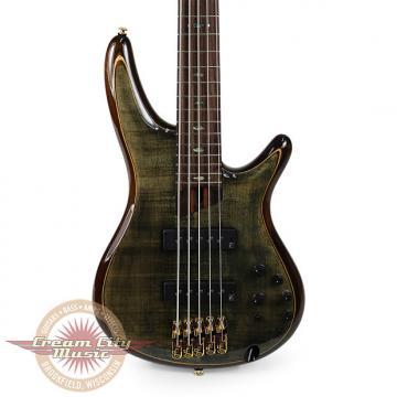 Custom Brand New Ibanez SR1405E Premium Series 5-String Electric Bass in Transparent Grey Black