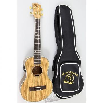 Custom Amahi Snail Series Ukulele Zebrawood - Tenor With Electronics