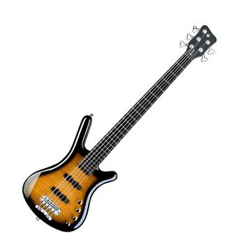Custom Warwick RockBass Corvette Classic 5-String Bass - Almond Sunburst