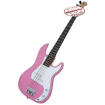 Custom Electric Bass Guitar with Bag, Strap and Tuner, Pink
