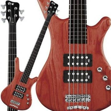 Custom Warwick RockBass Corvette 5-String Bass - Burgundy Red