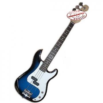Custom Electric Bass Guitar with Bag, Strap and Tuner, Blueburst