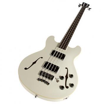 Custom Warwick GPS 4-String Star Bass Semi-Hollow Guitar - Cream White