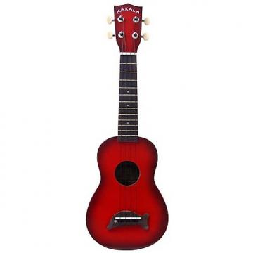 Custom Makala MK-SD Soprano Ukulele, Red Burst