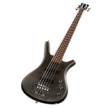 Custom Warwick GPS Corvette Ash 5-String Bass Guitar - Nirvana Black