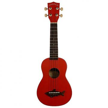 Custom Makala Soprano Ukulele with Shark Bridge, Red