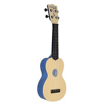 Custom Makala Waterman Soprano Ukulele, Blue Transparent
