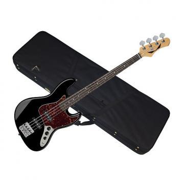 Custom DEAN Juggernaut 4 string BASS guitar NEW Black w/ LIGHT CASE - Rosewood