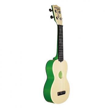 Custom Makala Waterman Soprano Ukulele, Green Transparent