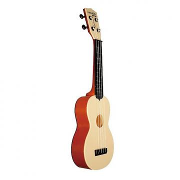 Custom Makala Waterman Soprano Ukulele, Orange Transparent