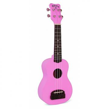 Custom Kohala KT-SPI Tiki Series Soprano Ukulele, Pink
