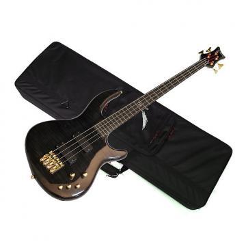 Custom DEAN Edge PRO 4-string BASS guitar NEW Trans Black w/LIGHT CASE - Neck-through