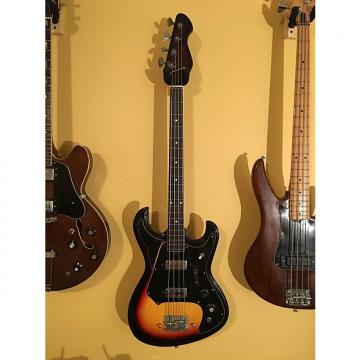 Custom 1960s National Vintage Electric Bass Guitar Sunburst German-Carve Bison Japan