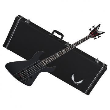 Custom DEAN Demonator 4 Chaos 4-String BASS guitar Black Satin w/ CASE - Grover Tuners