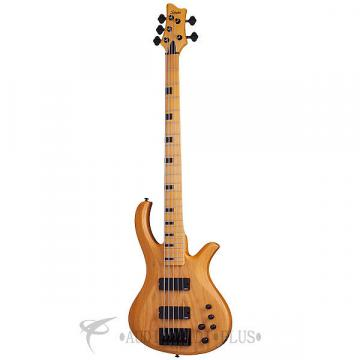 Custom Schecter Riot-5 Session Maple Fretboard Bass Guitar Aged Natural Satin - 2853 - 81544708034